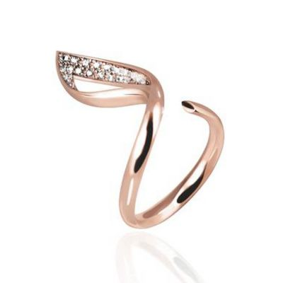 Solo Luce Ring in Rose Gold   OSYLIA London