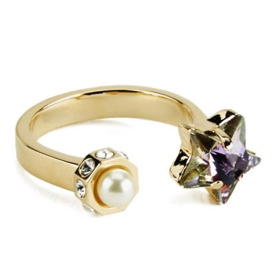 Street Neon Star Gold Ring by Maria Francesca Pepe - mfPepe