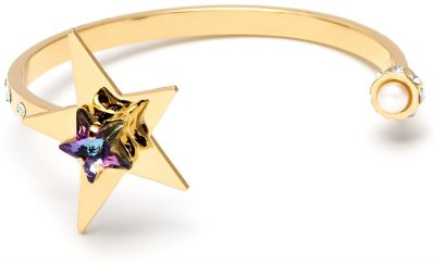 Street Neon Star Plaque Gold Thin Cuff by Maria Francesca Pepe
