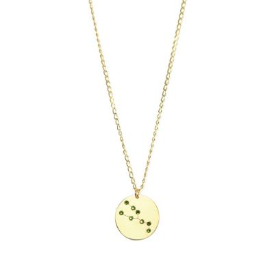 Taurus 24k gold Swarovski necklace