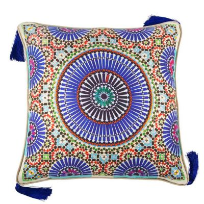 Zellige Indigo Large Cushion