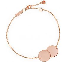 AKALiS Engravable Double Disc Rose Gold Bracelet