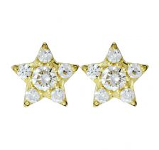 Alcyone Gold Studs with Diamonds by Zoe & Morgan Fine Jewellery