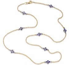 Amrapali Sapphire Long Chain Necklace - Divine Collection