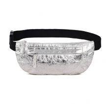 PETA Certified Arty Silver Belt Bag