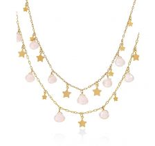 Astra Rose Quartz Necklace | Lily Flo London
