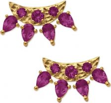 Eddera Ava Pink Tourmaline Earrings