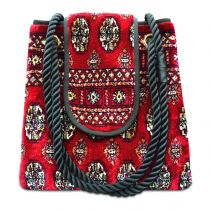 TORBA PLUS Bukhara Red Tote Bag | Made of Carpet