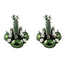 Beautix Earrings Forest Green | Begada