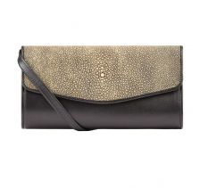 Grey Berlin Clutch Stingray Leather | Namu