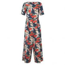 Bianca Floral Jumpsuit in Dark Navy