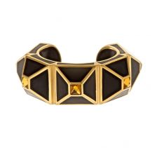 Black Frost Pyramid Luxe Statement Cuff | Isharya