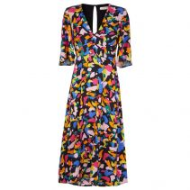 Blithe Midi Dress in Multicolor