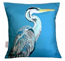 Blue Heron Cushion | Chloe Croft