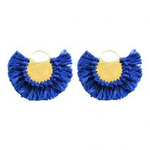 Blue Pavone Hoop Earrings | Ricardo Rodriguez