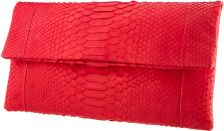 Katja Tamara Envelope Bright Red Python Leather Clutch