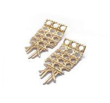 Cane Gold Earrings | Rahya Jewelry Design