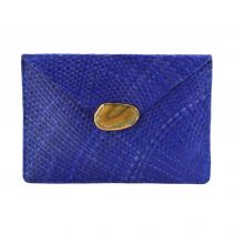 Blue Capri Clutch With Natural Agate | KAYU Design