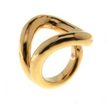 Chain Link Gold Statement Ring | SiammPatra