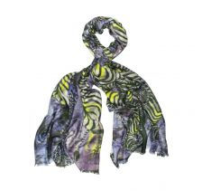Chasing Prey Hand painted Periwinkle Scarf