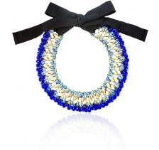 Ciconia Cobalt Blue Crytals Embellished Necklace