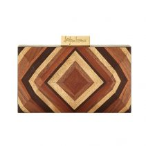 Cissy Rectangular Wooden Clutch | Serpui Marie