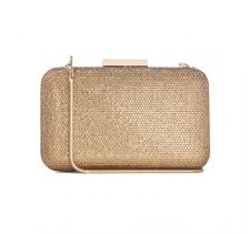 Crystal Clutch in Gold