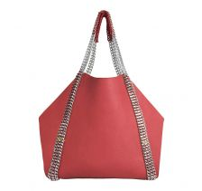 DALIDA Reversal Leather Tote Bag in Poppyred