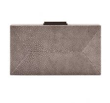 Dark Brown Diamond Clutch Stingray Leather | NAMU