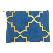 Blue Dhurrie Laptop / Document Sleeve | Ethnique PH