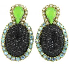 Doloris Petunia Bubble Earrings - Black
