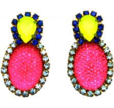 Doloris Petunia Bubble Earrings - Pink
