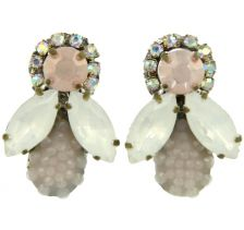 Doloris Petunia Honey Bee Earrings - Pale Pink