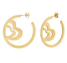 POTC Jewellery - Double Heart Hoop Earrings