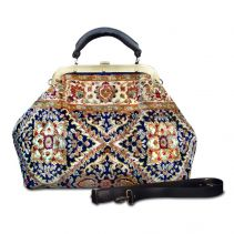ESCULAP Treillage Navy Doctor Gladstone Bag  | Made of Carpet