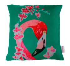Flamingo And Flowers Cushion | Chloe Croft