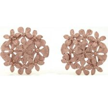 Tulola Flower Bouquet 18k Rose Gold Plated Studs