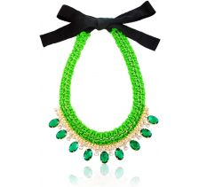 Fulica Neon Green Crystal Necklace