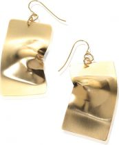 Noritamy Gold Flex Dented Rectangular Earrings