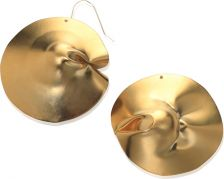 Noritamy Gold Flex Dented Round Earrings