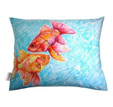 Gorgeous Goldfish Cushion | Chloe Croft