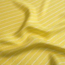 Canary Yellow Herringbone Silk Scarf
