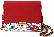 Iznik Scarlett Embroidery Box Clutch