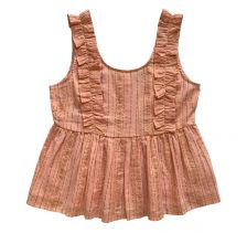 Jeanne Frills Top in Pink
