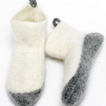 Kosy Nordic Winter Slipper Socks In White