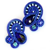 Olag Sergeychuk Large Blue Studs Sutazhny Earrings | Olga Sergeychuk