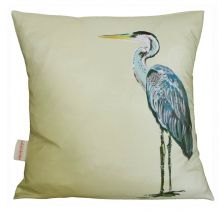 Lemon Heron Charity Cushion | Chloe Croft