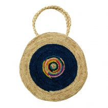 Lola Circle Raffia Handbag | The Noces