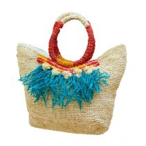 Lucia Raffia Handbag | The Noces
