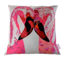 Magenta Flamingos Cushion | Chloe Croft